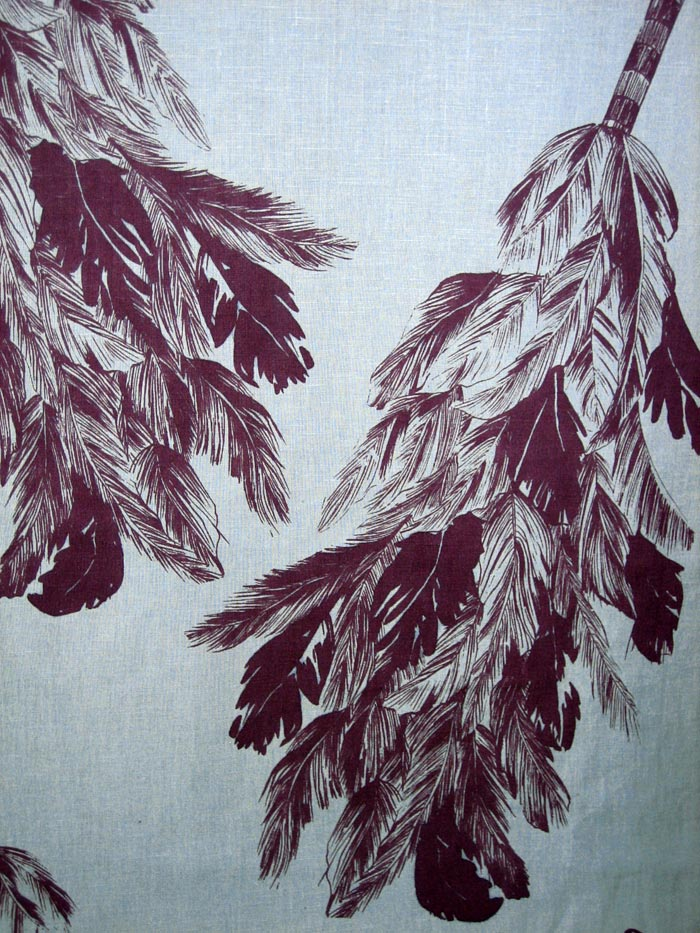Feather duster print detail