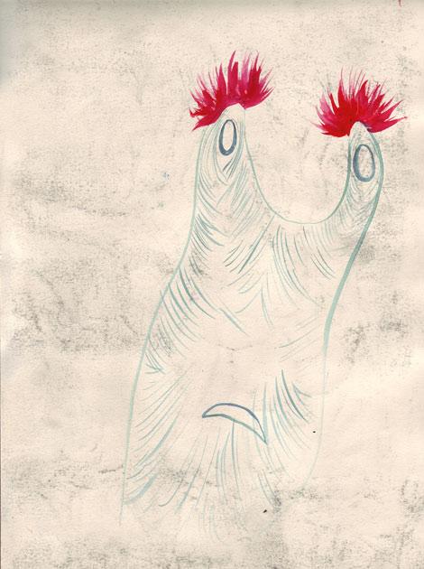 sea beast with pom poms