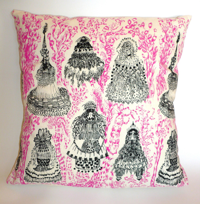 Bird Emperor Cushion (pink)
